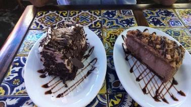 Hellas Bakery - Vaklava cheese cake and chocolate cake